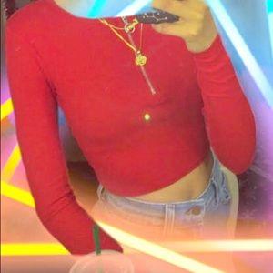 Red Half Zip Shirt
